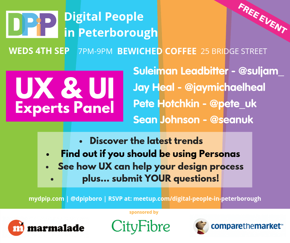 September 2019 Ux Ui Experts Panel Dpip Digital